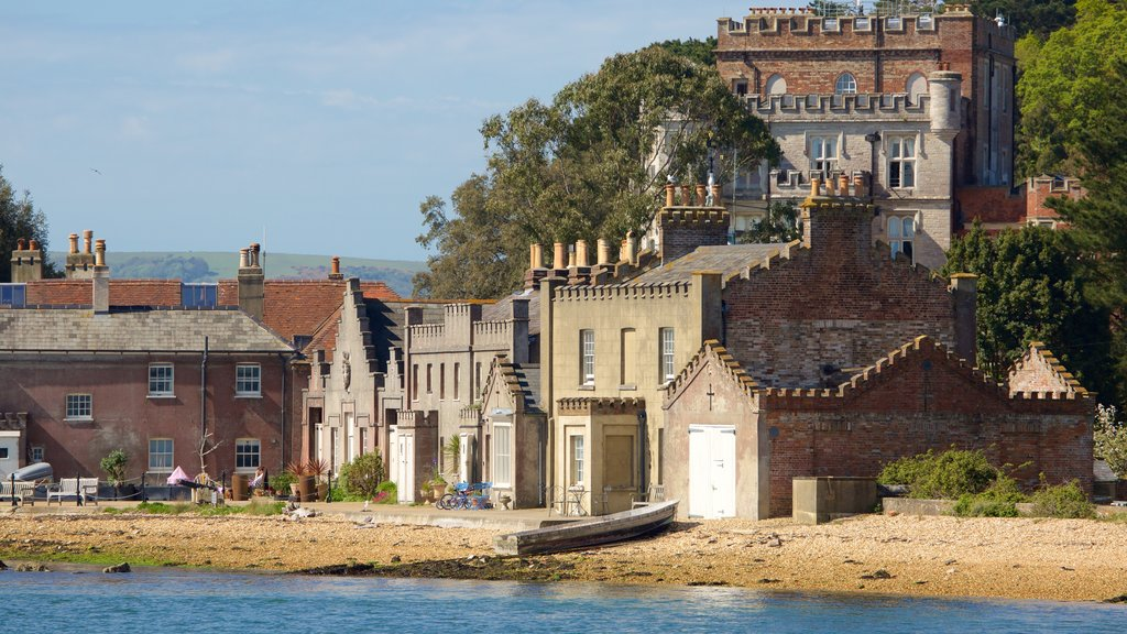 Brownsea Castle which includes heritage architecture