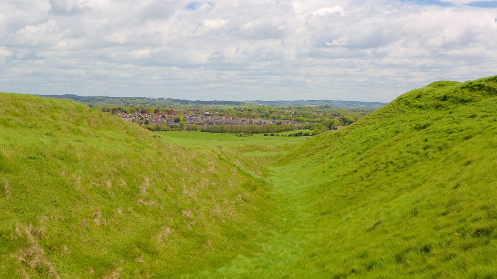 Maiden Castle showing tranquil scenes