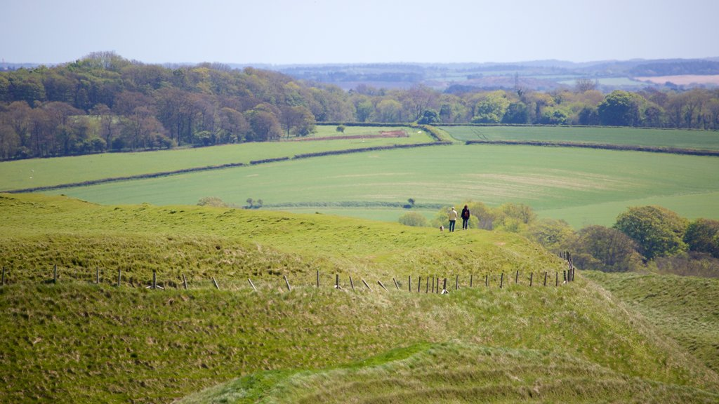 Maiden Castle which includes tranquil scenes