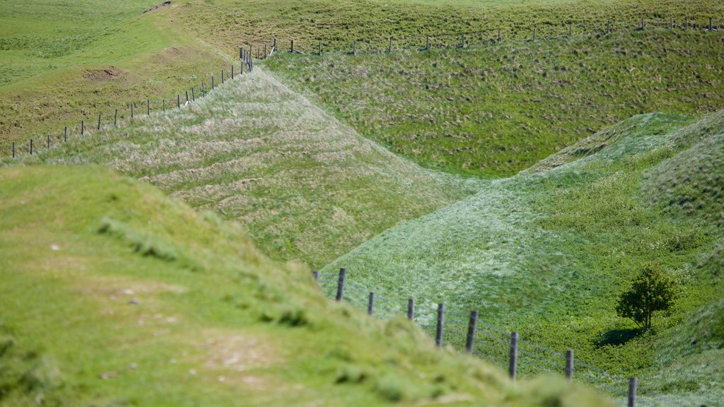 Maiden Castle featuring tranquil scenes
