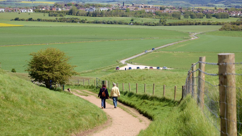 Maiden Castle which includes tranquil scenes as well as a couple