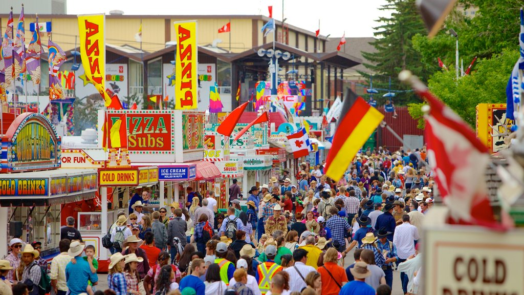 Calgary showing a festival as well as a large group of people