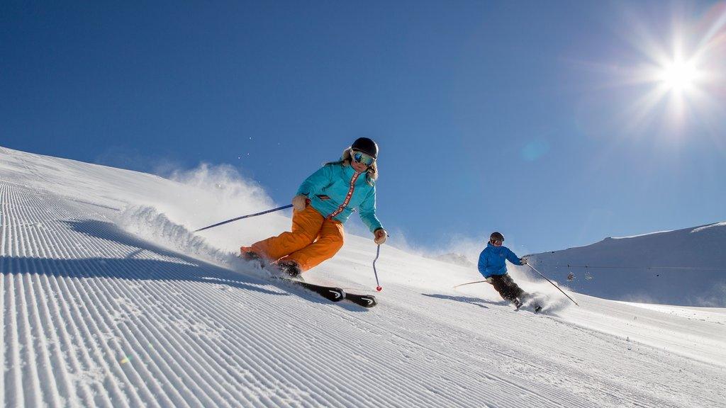 Mount Hutt Skifield which includes snow skiing and snow