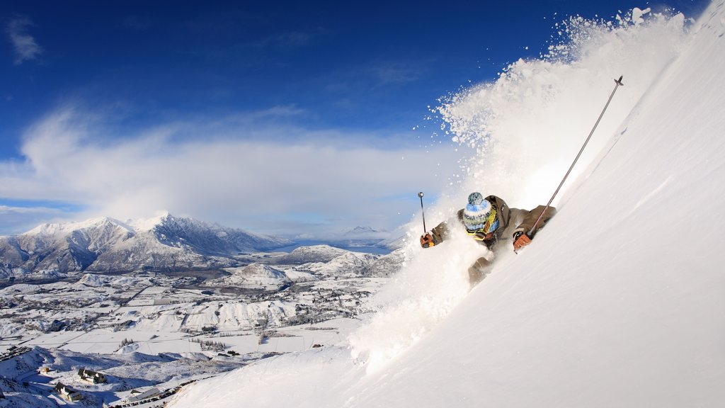 Coronet Peak Ski Area which includes snow skiing and snow