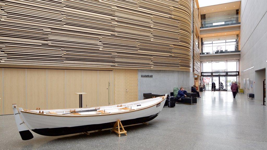 Akureyri featuring interior views