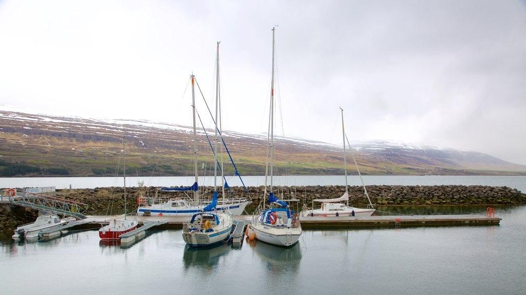 Akureyri featuring sailing, boating and general coastal views