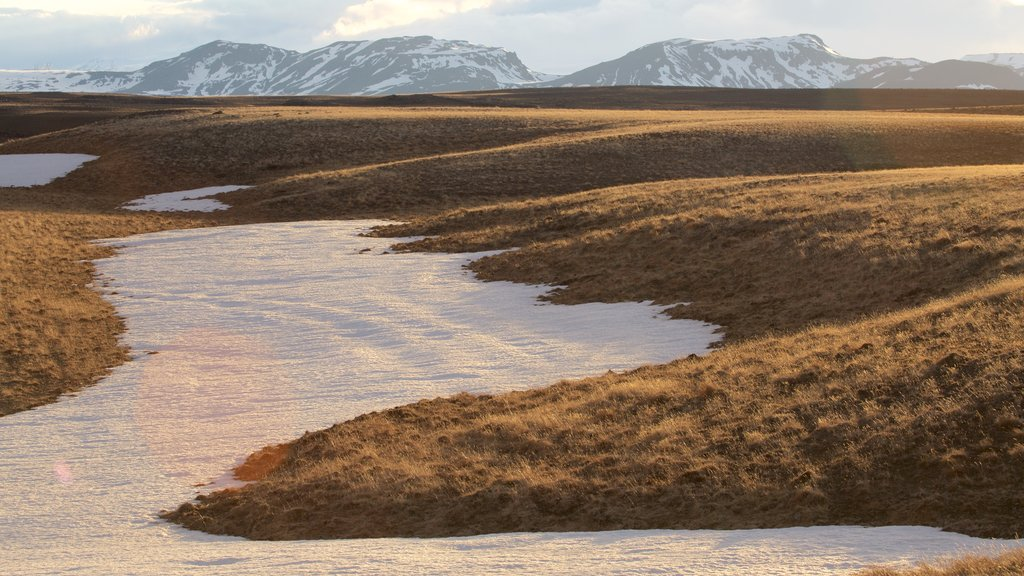 Laugarvatn showing tranquil scenes and snow