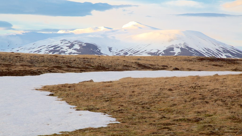 Laugarvatn showing mountains, tranquil scenes and snow