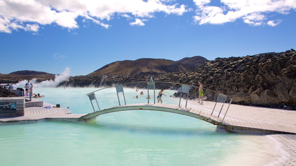 Blue Lagoon featuring a hot spring and a bridge