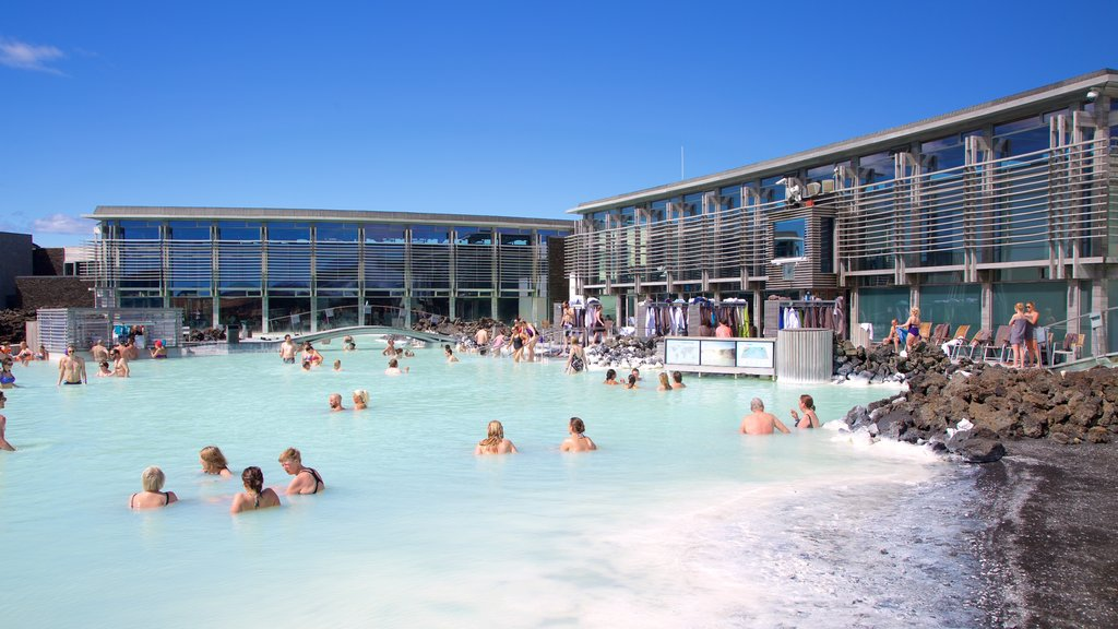 Blue Lagoon showing swimming, a hot spring and a luxury hotel or resort