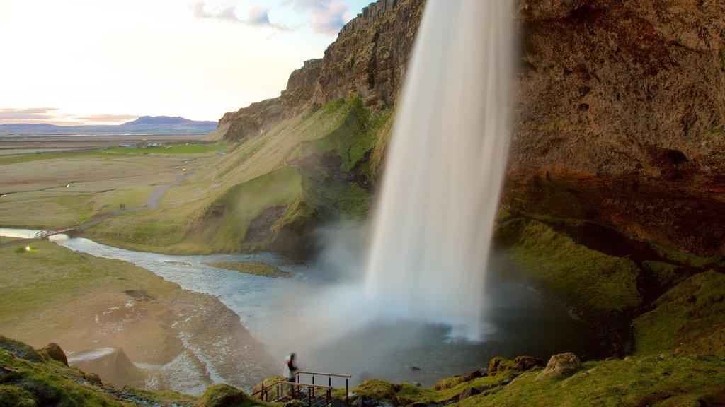 Seljalandsfoss que incluye una catarata