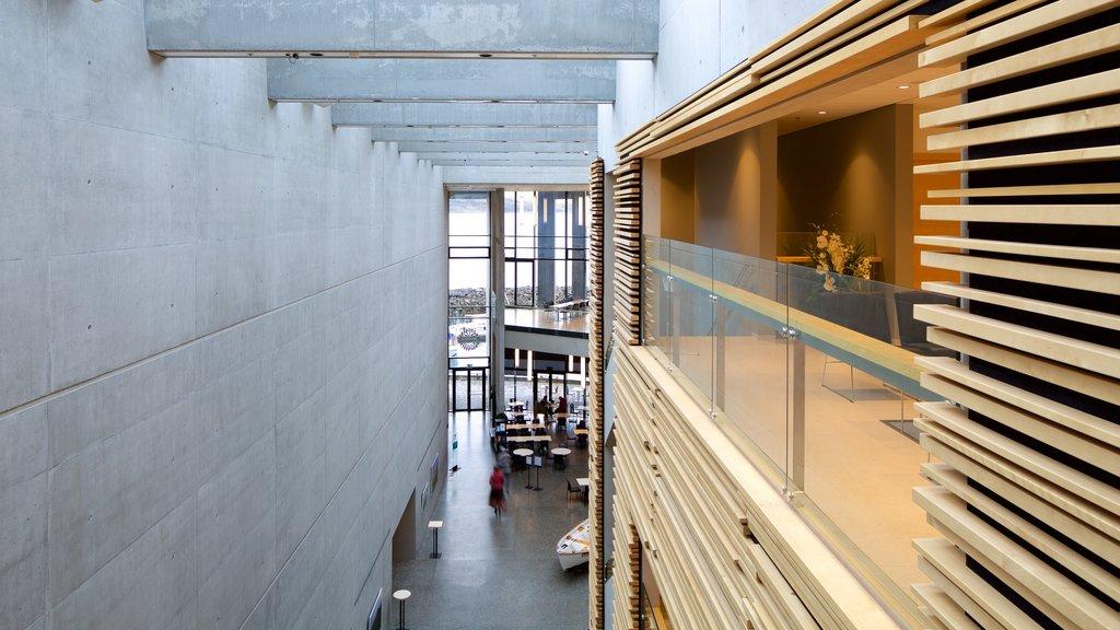 Akureyri featuring modern architecture and interior views