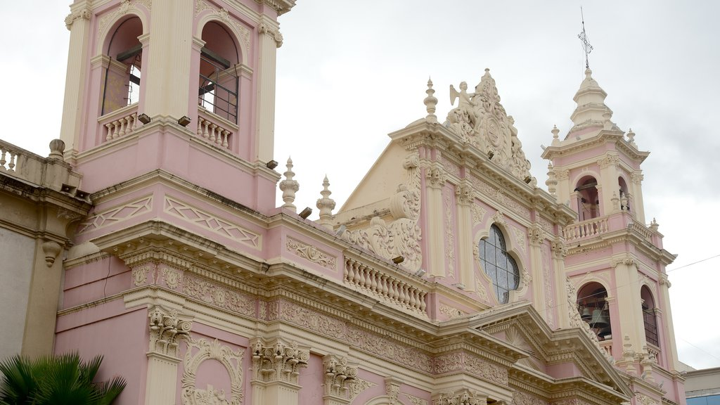 Salta Cathedral showing a church or cathedral, religious aspects and heritage architecture
