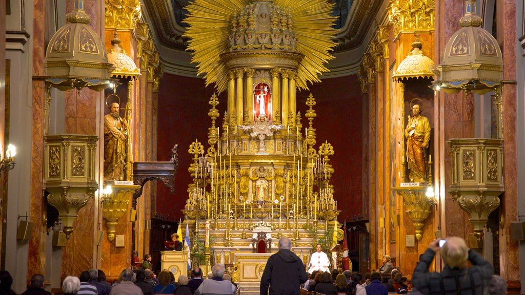 Salta Cathedral which includes interior views, a church or cathedral and religious aspects