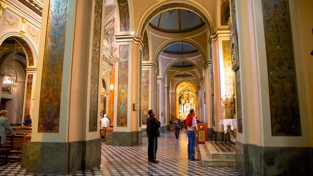 Salta Cathedral showing a church or cathedral, heritage architecture and religious elements