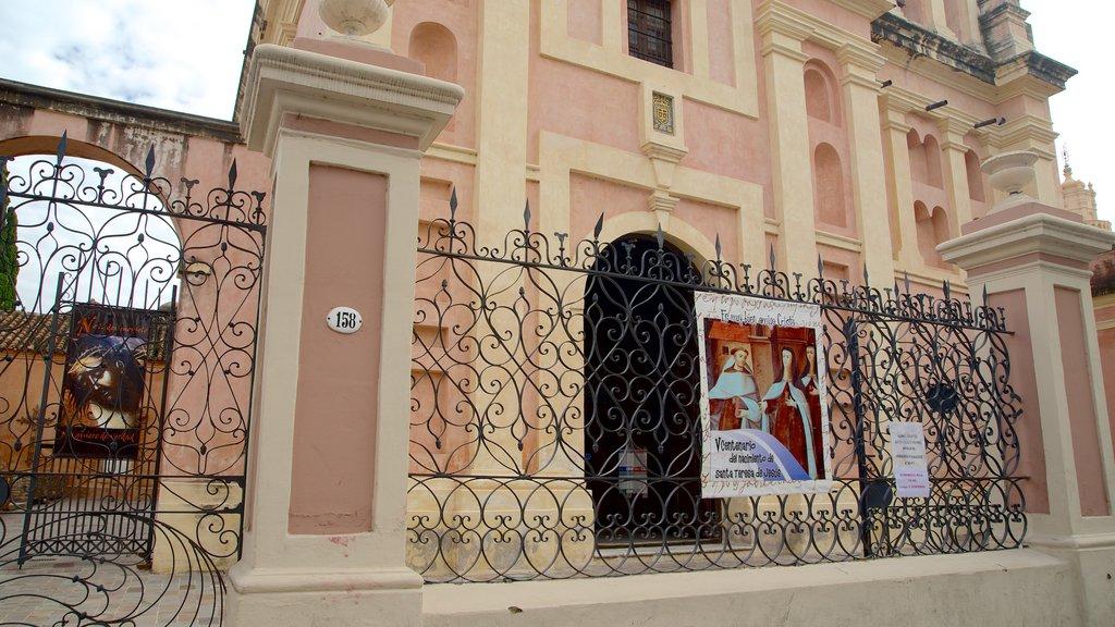 Carmelite Monastery featuring signage