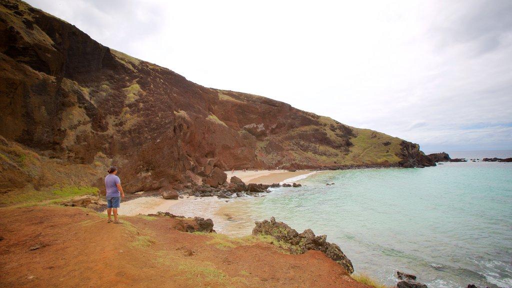 Ovahe Beach featuring general coastal views as well as an individual male