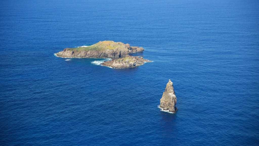 Easter Island which includes island images and general coastal views