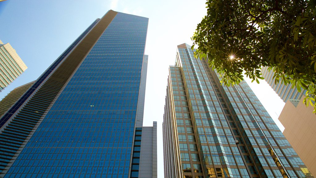 Makati showing modern architecture and a skyscraper