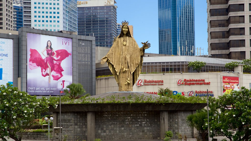 Ortigas Center which includes a statue or sculpture