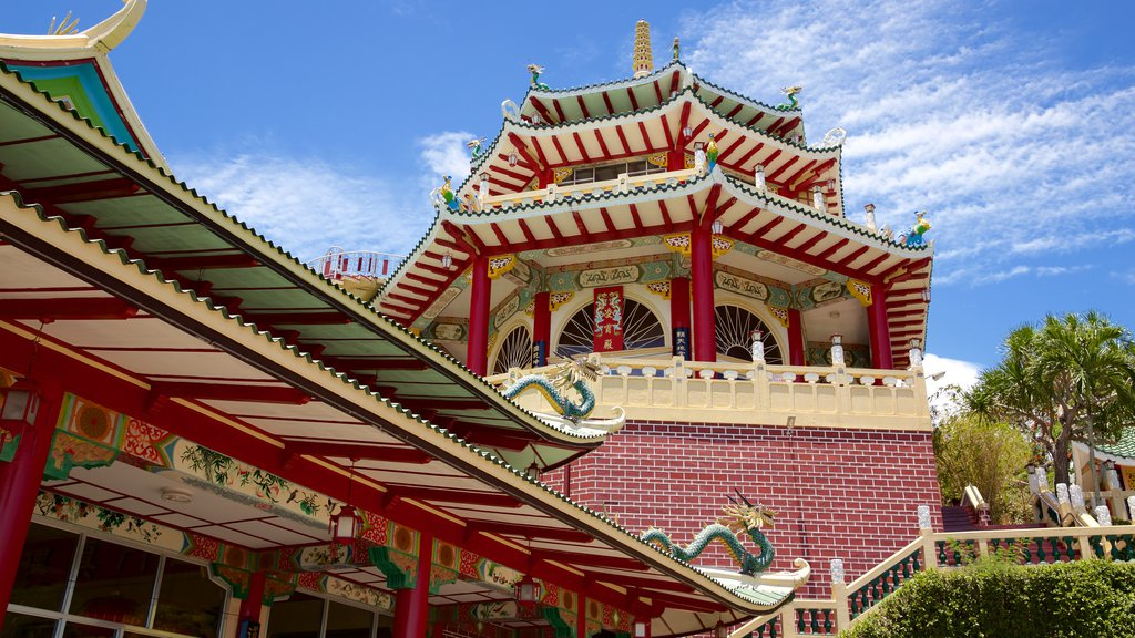 Philippines Taoist Temple showing religious elements and a temple or place of worship