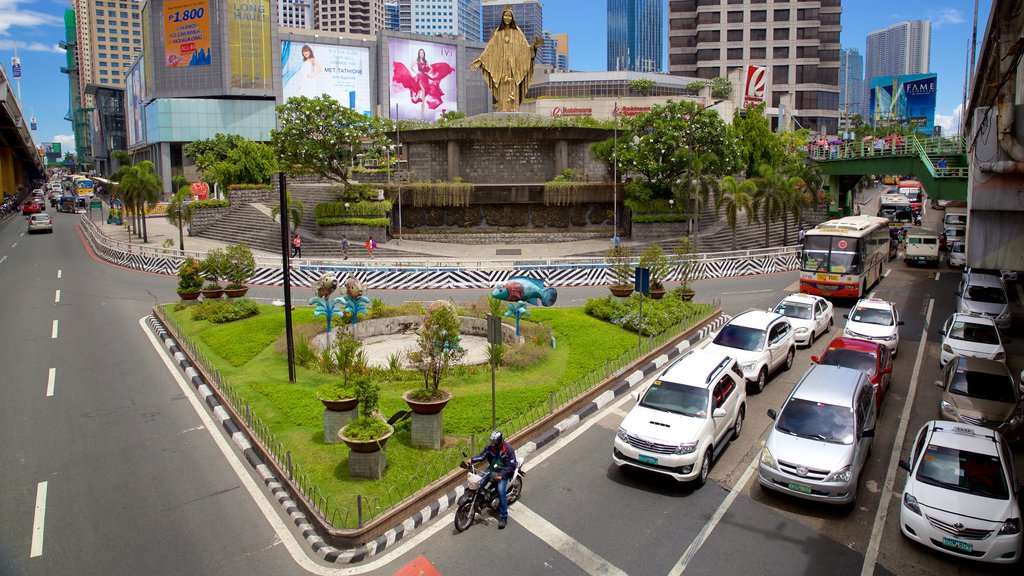 Ortigas Center which includes street scenes and a city
