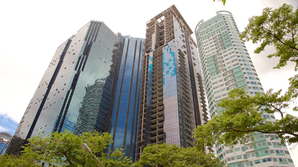 Ortigas Center which includes a high rise building and a city