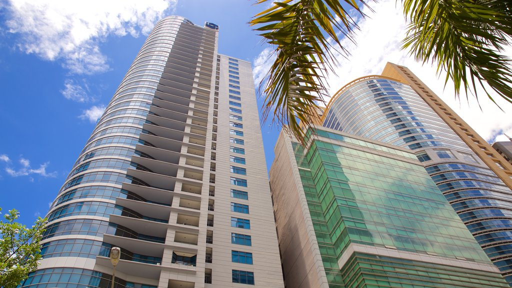 Ortigas Center showing a city and a high rise building