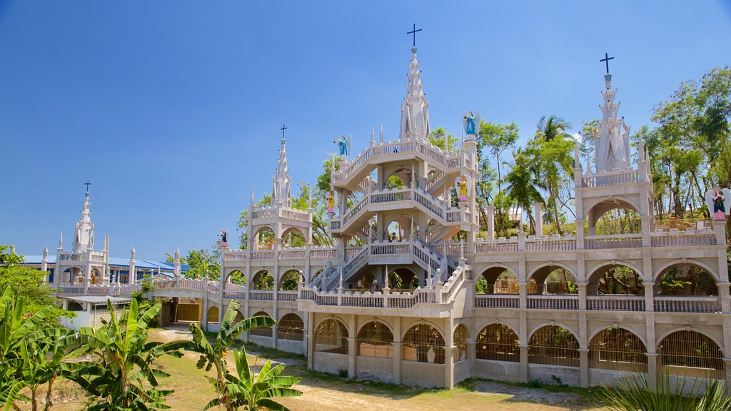 Simala Shrine which includes religious elements and heritage architecture