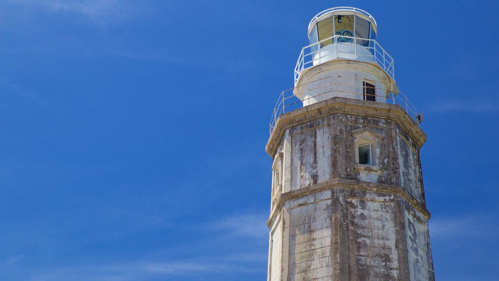 Lighthouse showing a lighthouse and heritage architecture