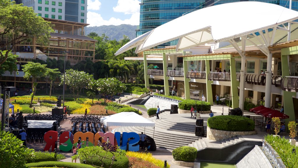 Ayala Center which includes a garden