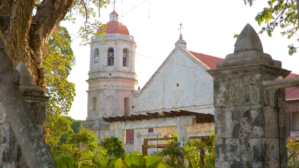 Dalaguete Church showing a church or cathedral, a sunset and religious elements
