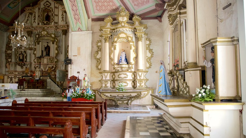 Dalaguete Church showing heritage architecture, interior views and a church or cathedral
