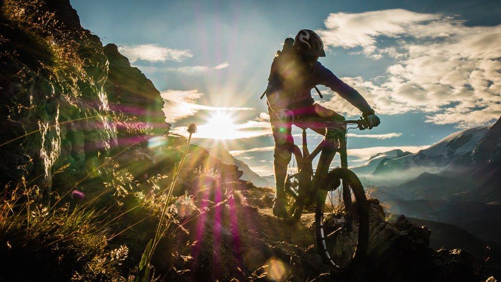 Matterhorn showing mountain biking and a sunset