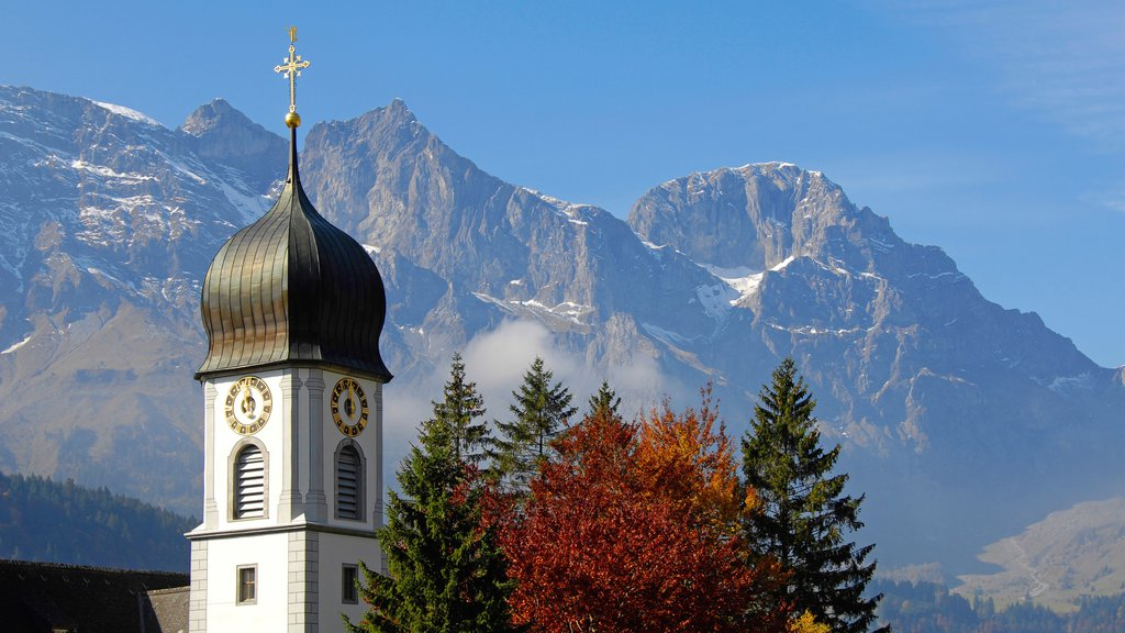 Engelberg-Titlis Ski Resort featuring religious elements, mountains and a church or cathedral