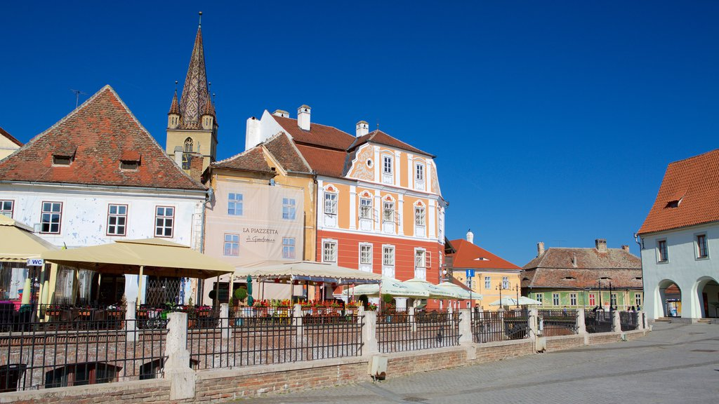 Sibiu showing heritage architecture