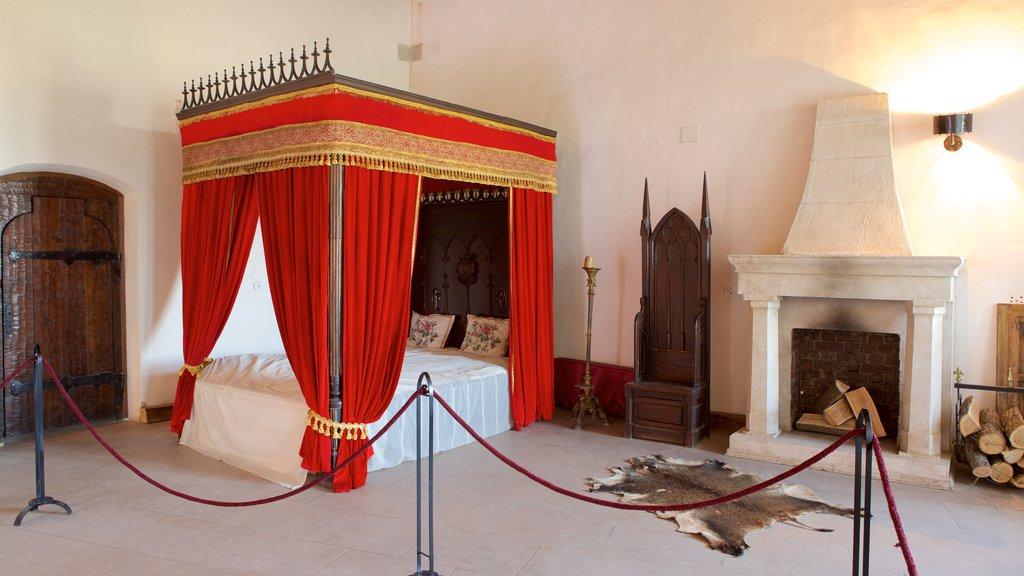 Hunedoara Castle which includes interior views