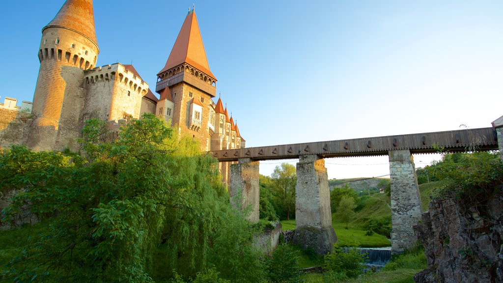 Hunedoara Castle which includes a bridge and chateau or palace