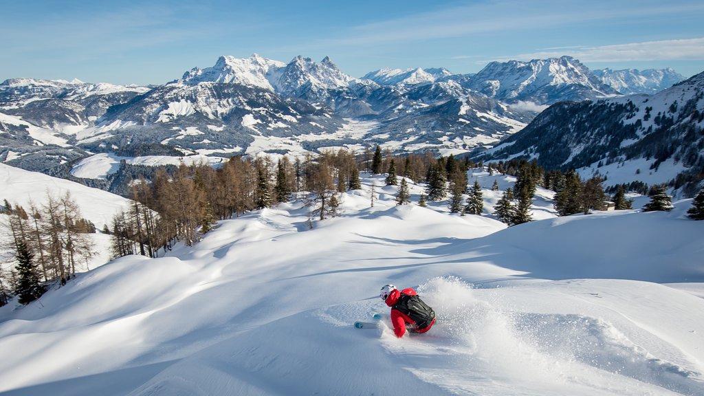 Tirol mostrando montañas, esquiar en la nieve y nieve