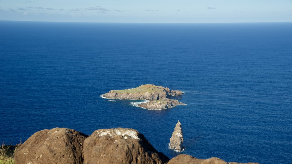 Easter Island which includes island images and rocky coastline