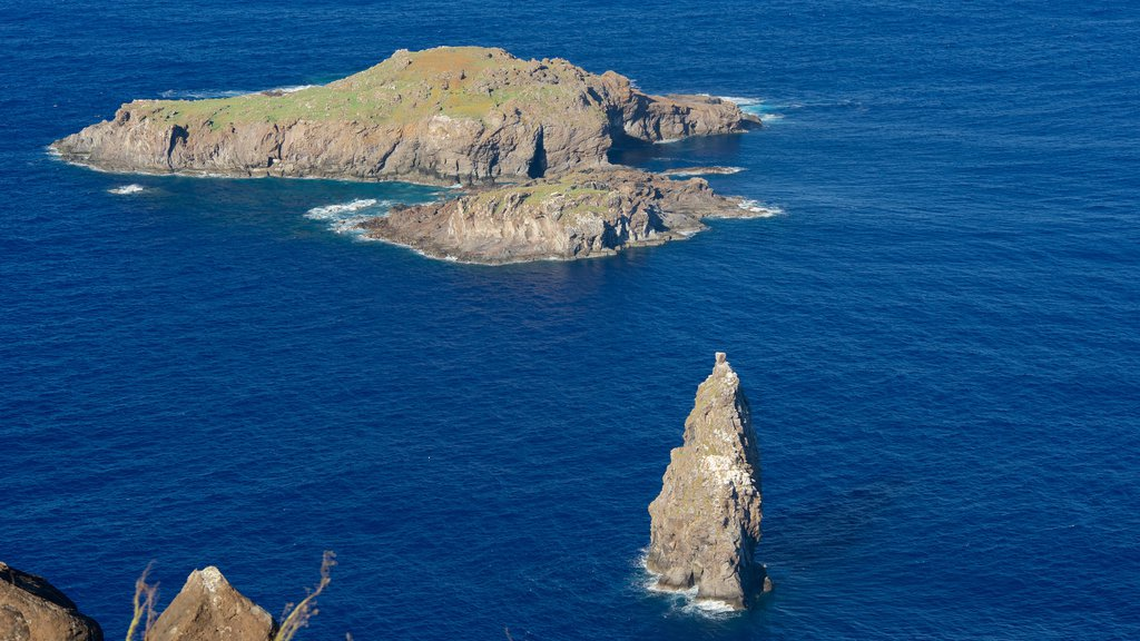 Easter Island showing rugged coastline and island views