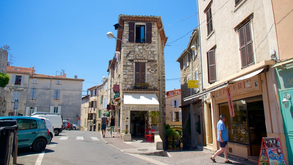 Antibes which includes a coastal town and street scenes