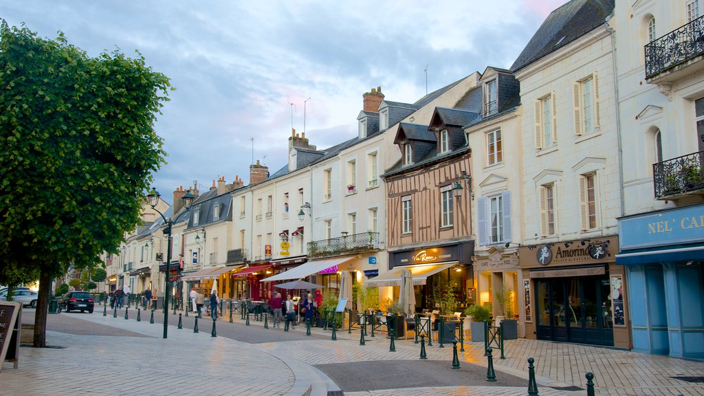 Amboise featuring cafe scenes, a small town or village and street scenes