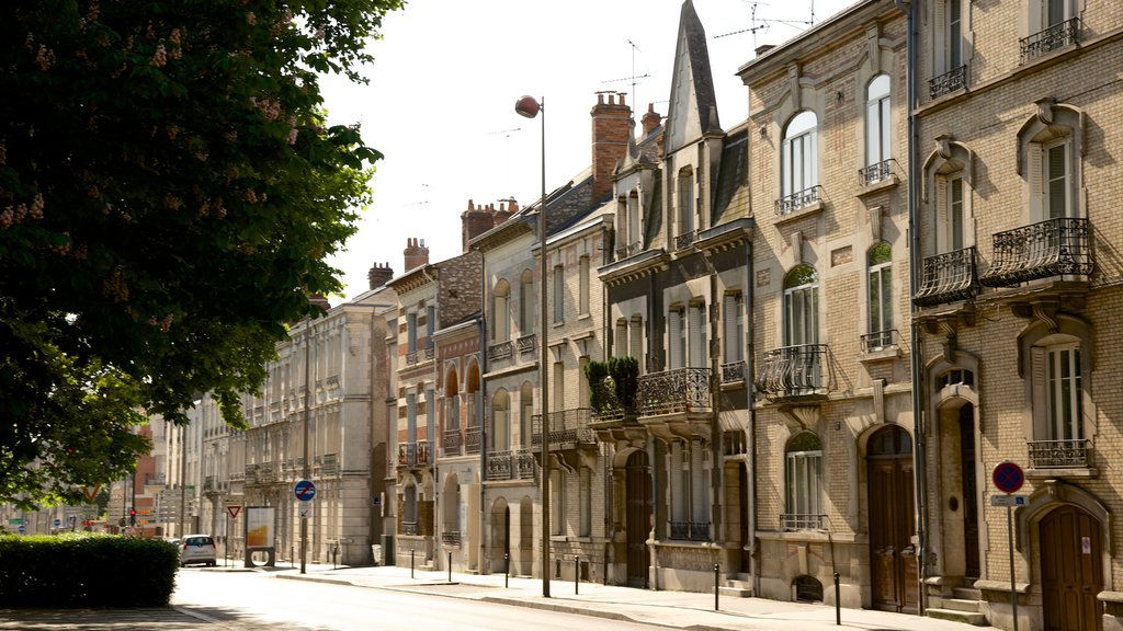 Orleans which includes a small town or village and heritage elements