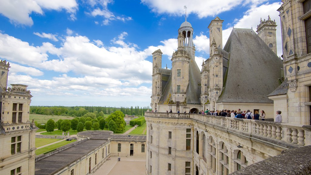 Chateau de Chambord showing chateau or palace, interior views and views