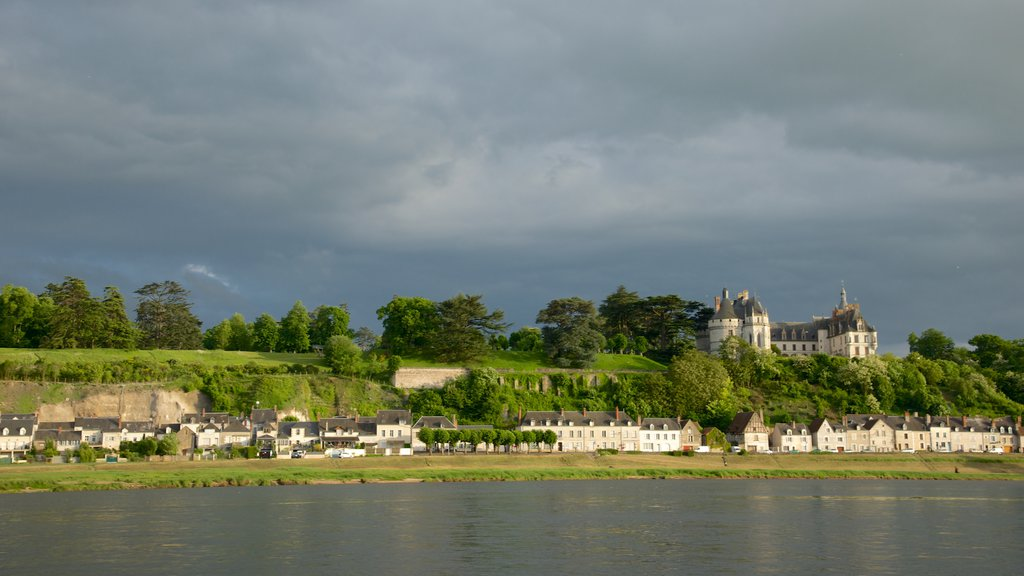 Chaumont-sur-Loire featuring a small town or village and a river or creek