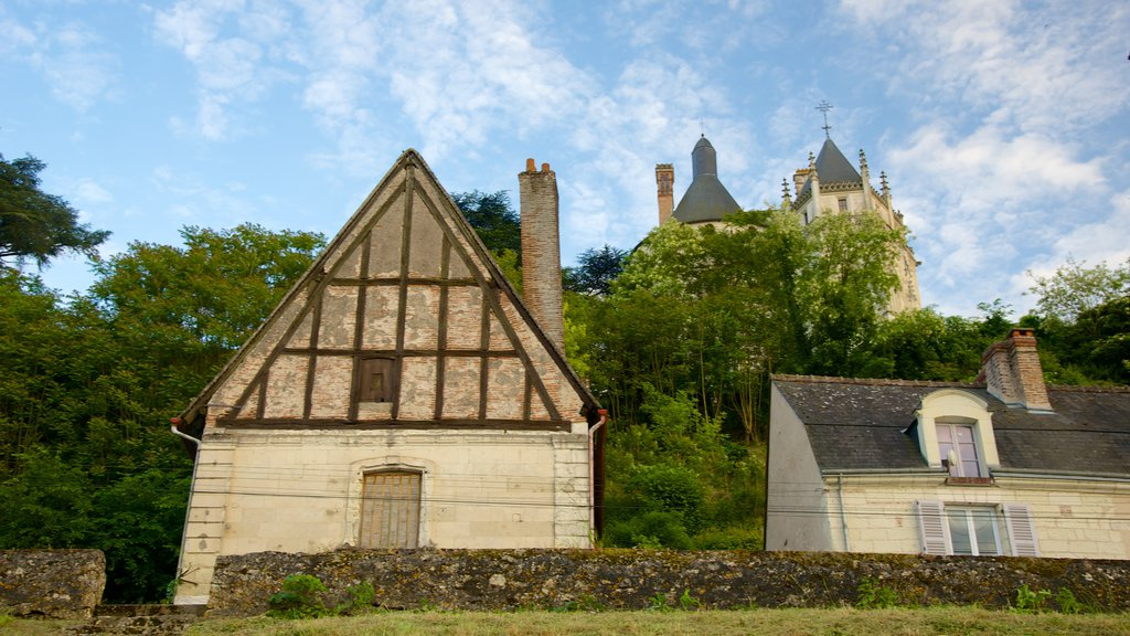 Chaumont-sur-Loire featuring a small town or village and a house