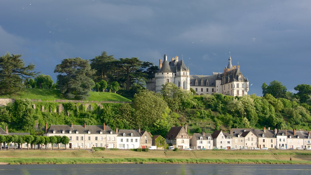 Chaumont-sur-Loire which includes tranquil scenes, a small town or village and a castle
