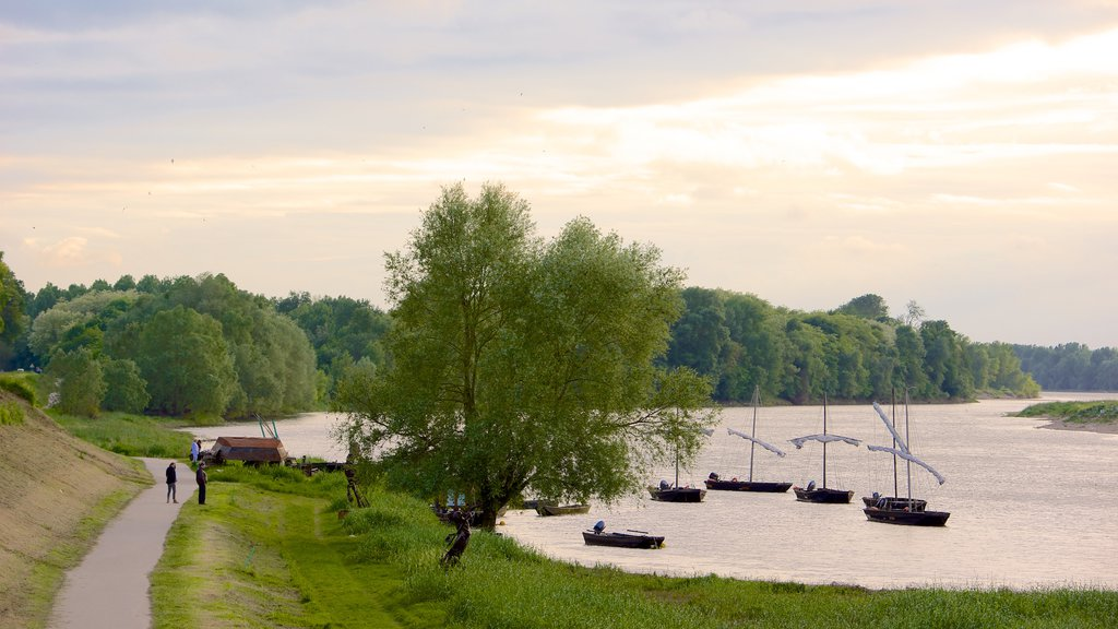 Chaumont-sur-Loire which includes tranquil scenes, a bay or harbor and a river or creek