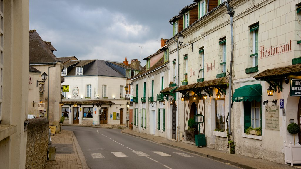Chenonceaux showing street scenes and a small town or village